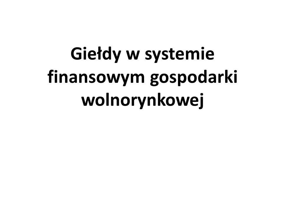 Podmioty gospodarki Gospodarstwa domowe Przedsiębiorstwa Państwo oraz Bank Centralny