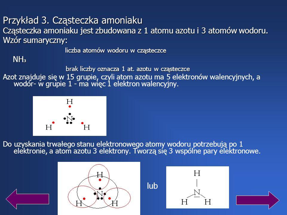 Azot znajduje się w 15 grupie układu okresowego pierwiastków chemicznych, z czego wynika, że ma 5 elektronów walencyjnych. W wypadku azotu powstanie o