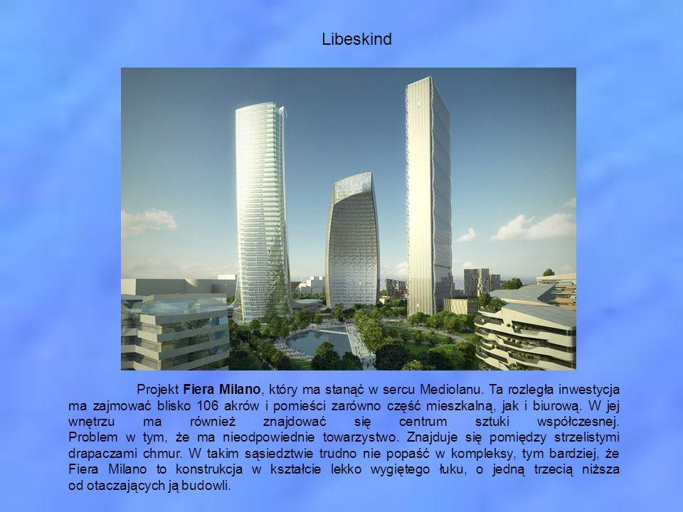 Libeskind Projekt Fiera Milano, który ma stanąć w sercu Mediolanu. Ta rozległa inwestycja ma zajmować blisko 106 akrów i pomieści zarówno część mieszk