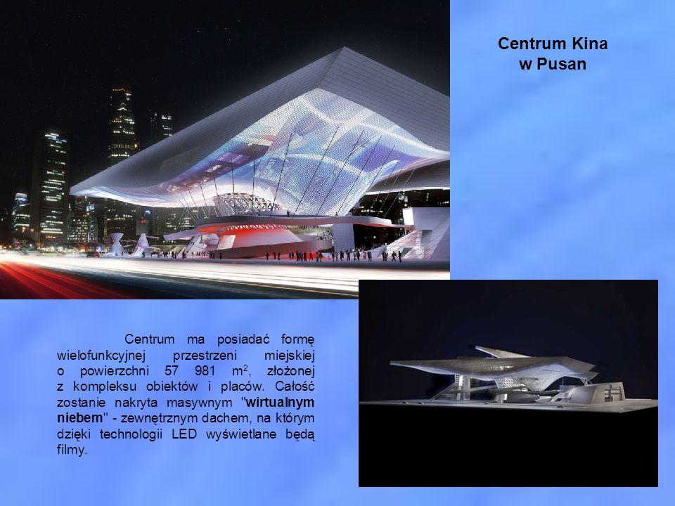 Centrum Kina w Pusan Centrum ma posiadać formę wielofunkcyjnej przestrzeni miejskiej o powierzchni 57 981 m 2, złożonej z kompleksu obiektów i placów.