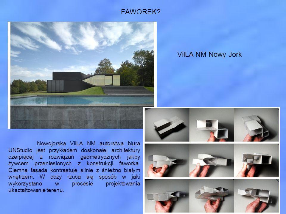 FAWOREK? Nowojorska VilLA NM autorstwa biura UNStudio jest przykładem doskonałej architektury czerpiącej z rozwiązań geometrycznych jakby żywcem przen