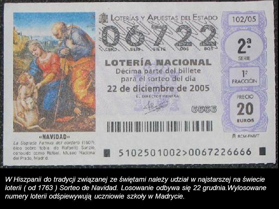W Hiszpanii prezenty przynoszą dzieciom 6 stycznia Trzej Królowie. Od 1980r obdarowywanie dzieci jest przesuwane na Boże Narodzenie, by dzieci miały d
