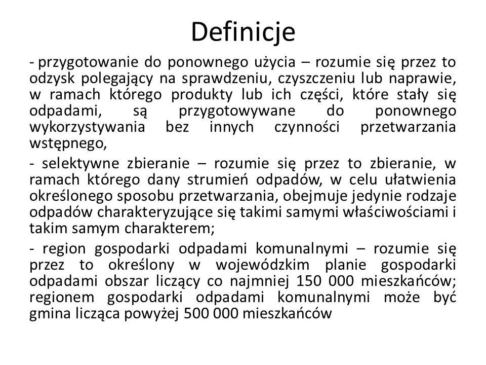 Kary pieniężne 3) nie przekazuje odebranych od właścicieli nieruchomości zmieszanych odpadów komunalnych, odpadów zielonych oraz pozostałości z sortowania odpadów komunalnych przeznaczonych do składowania do regionalnej instalacji do przetwarzania odpadów komunalnych – podlega karze pieniężnej w wysokości od 500 zł do 2 000 zł za pierwszy ujawniony przypadek 4) przekazuje nierzetelne sprawozdanie – podlega karze pieniężnej w wysokości od 500 zł do 5 000 zł; 5) przekazuje po terminie sprawozdanie – podlega karze pieniężnej w wysokości 100 zł za każdy dzień opóźnienia.