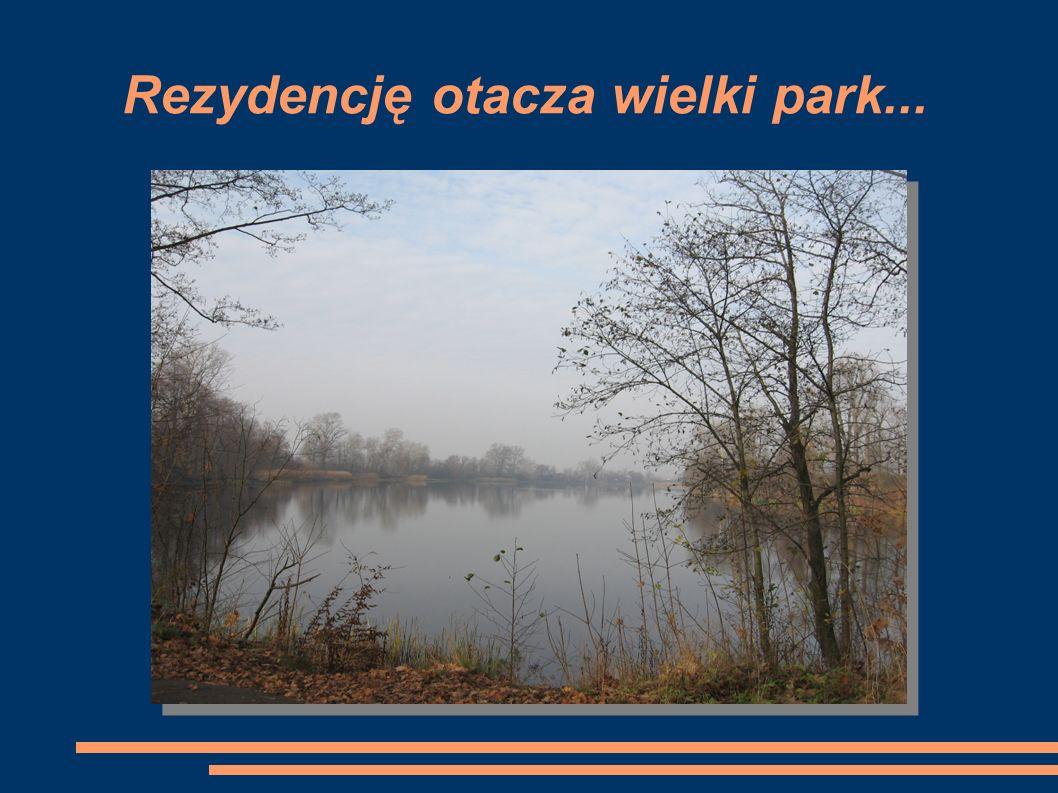 Rezydencję otacza wielki park...