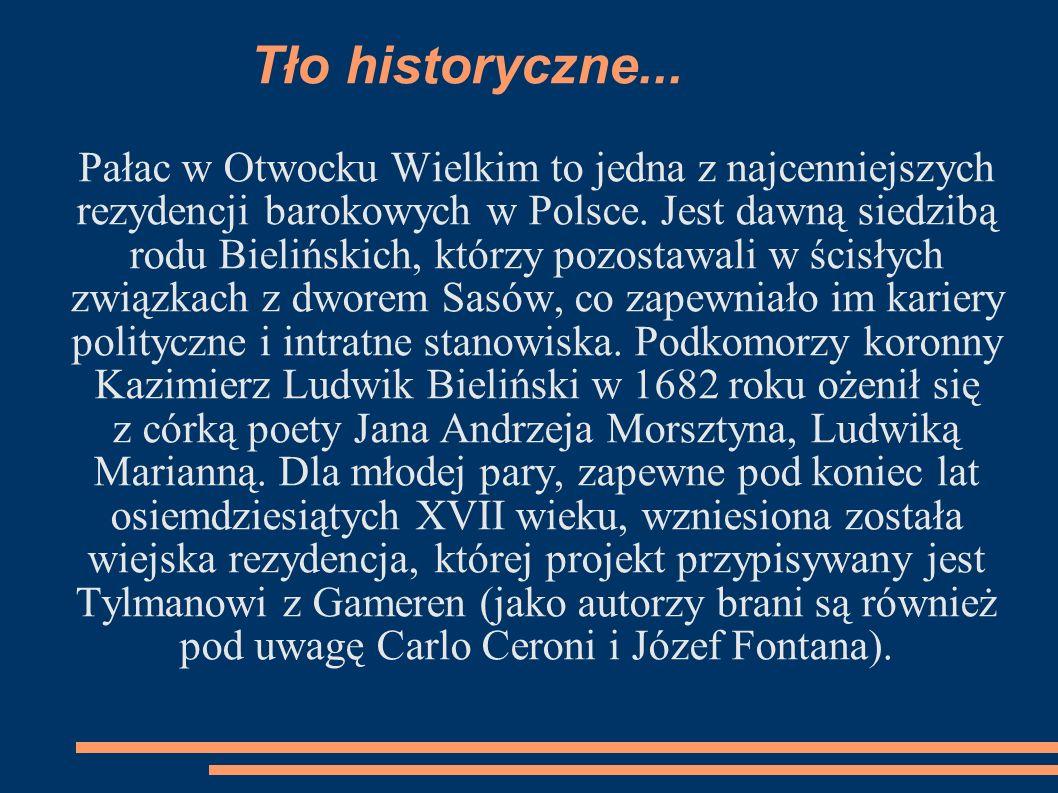 Tło historyczne... Pałac w Otwocku Wielkim to jedna z najcenniejszych rezydencji barokowych w Polsce. Jest dawną siedzibą rodu Bielińskich, którzy poz