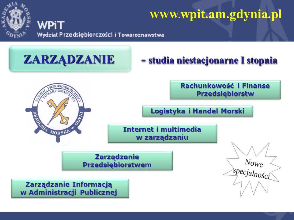 WWW. wpit.am.gdynia.pl Zarządzanie Przedsiębiorstwe Zarządzanie Przedsiębiorstwem Logistyka i Handel Morski Internet i multimedia w zarządzan Internet