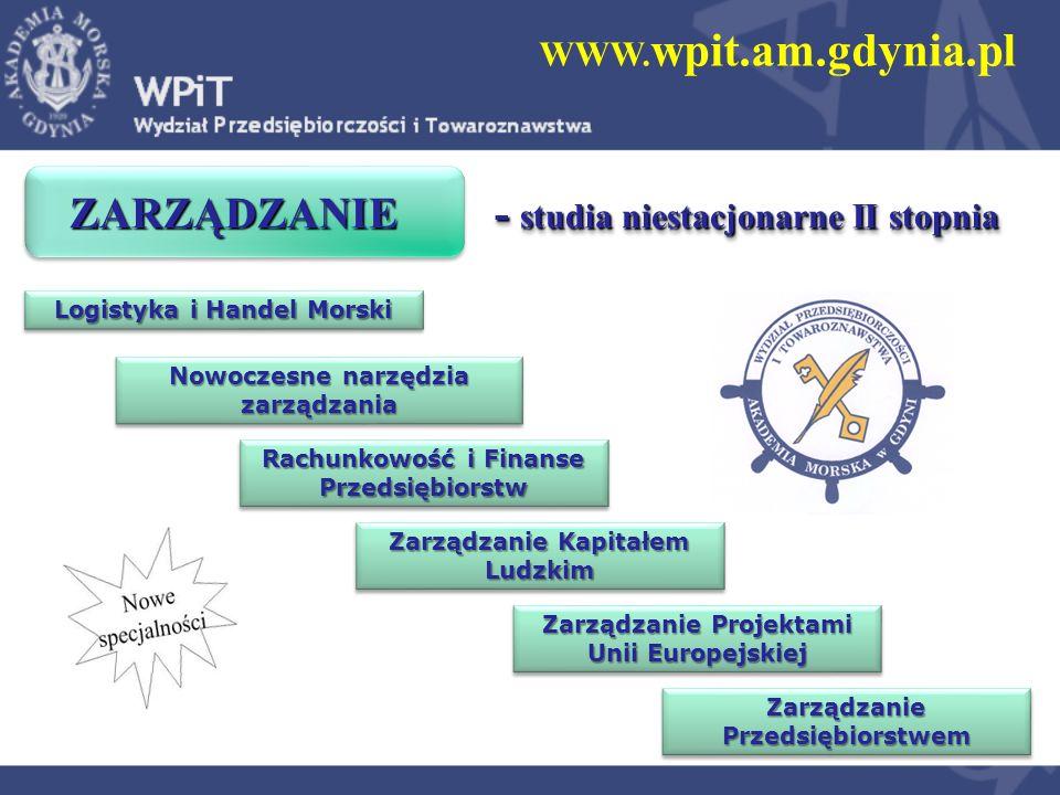 WWW. wpit.am.gdynia.pl ZARZĄDZANIE - studia niestacjonarne II stopnia ZARZĄDZANIE - studia niestacjonarne II stopnia Zarządzanie Przedsiębiorstwem Log