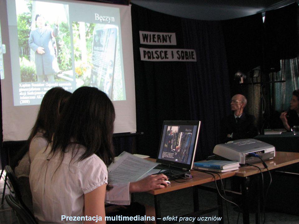 25 Prezentacja multimedialna – efekt pracy uczniów