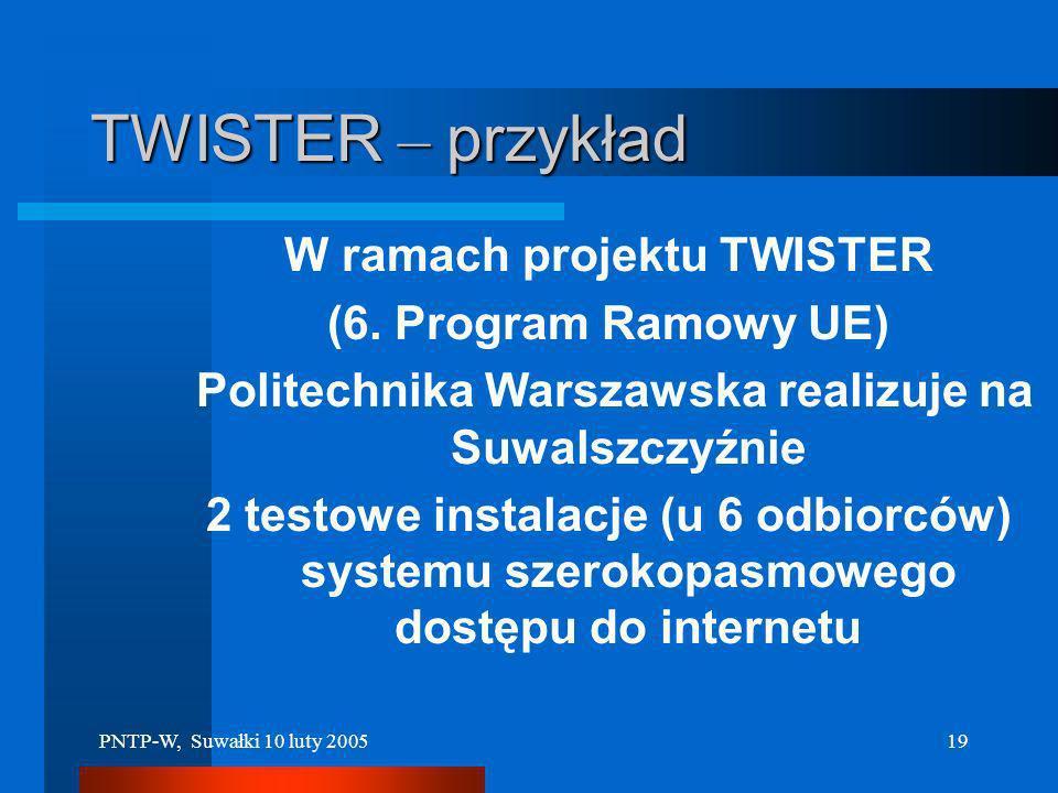 PNTP-W, Suwałki 10 luty 200518 KONTAKT: Jednostka Zarządzająca PARKIEM (powołana 29 czerwca 2004) Park Naukowo –Technologiczny Polska- Wschód w Suwałk