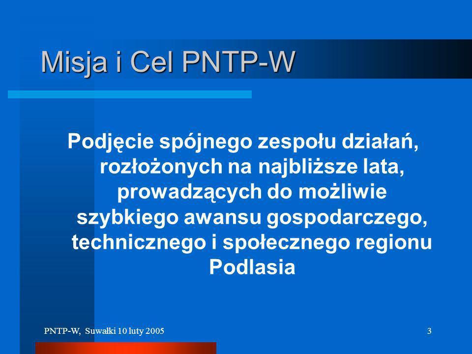 PNTP-W, Suwałki 10 luty 20052 MOTTO PODLASIE musi zdobyć się na przygotowanie wizji cywilizacyjnego skoku Kontynuowanie ewolucyjnego rozwoju nie pozwo