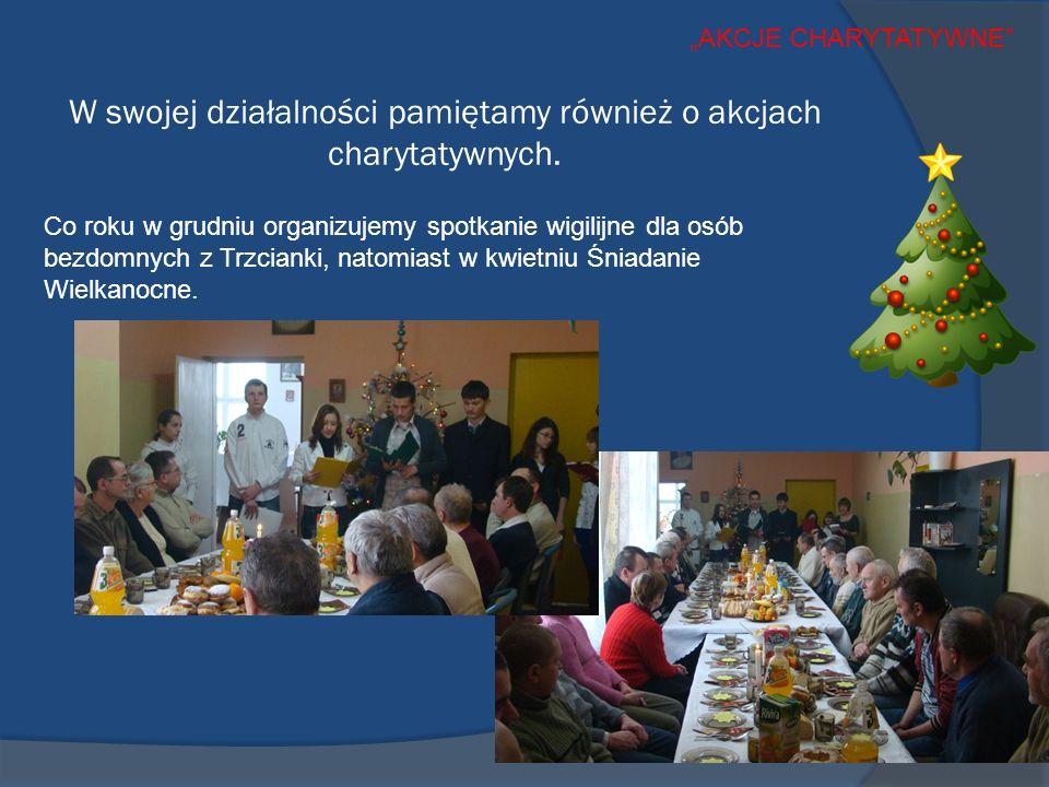W swojej działalności pamiętamy również o akcjach charytatywnych.