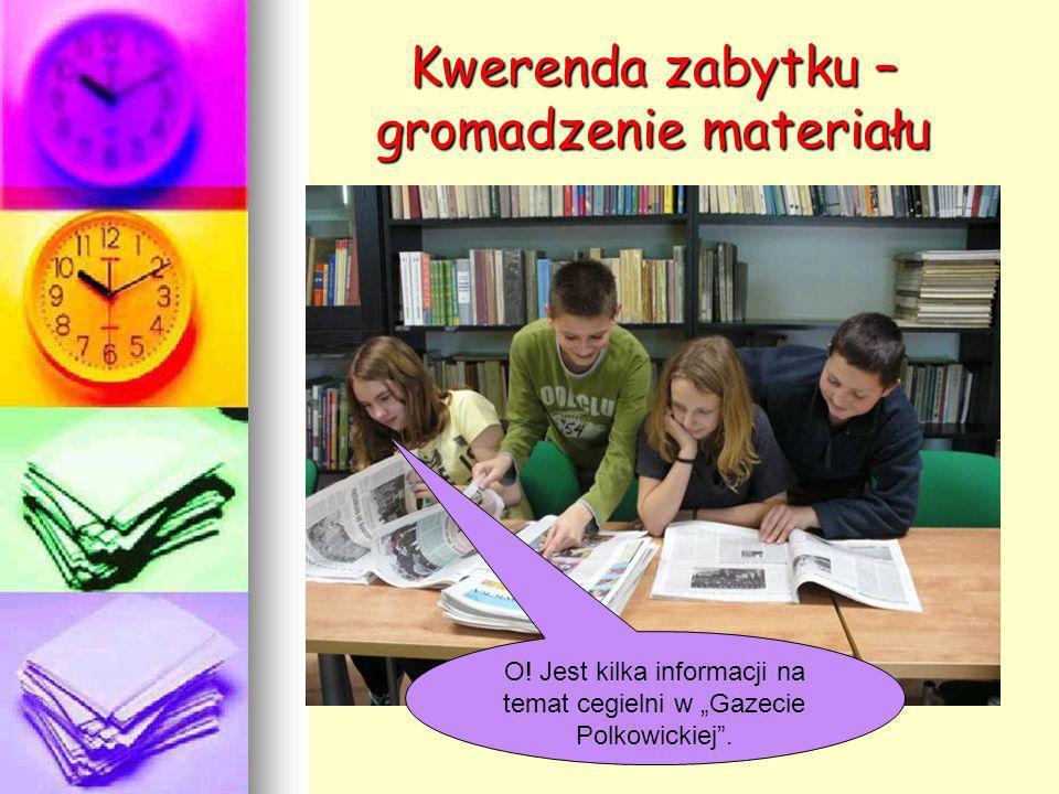 Kwerenda zabytku – gromadzenie materiału O! Jest kilka informacji na temat cegielni w Gazecie Polkowickiej.