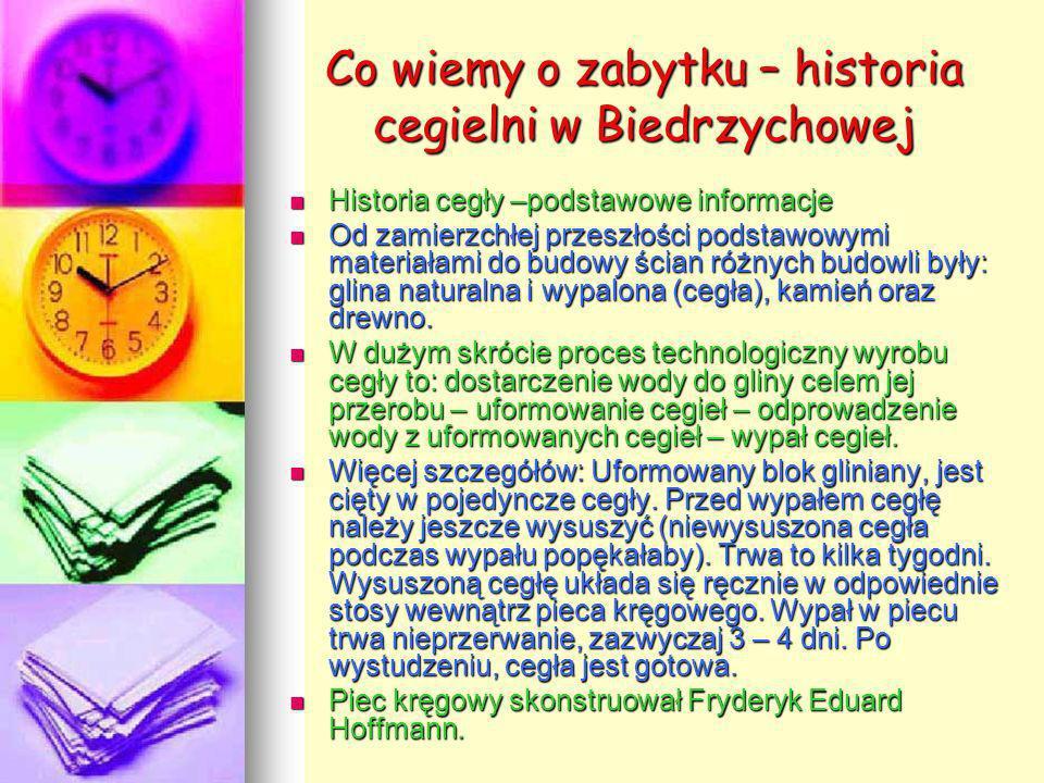 Co wiemy o zabytku – historia cegielni w Biedrzychowej Cegielnia w Biedrzychowej powstała w drugiej połowie XIX wieku.