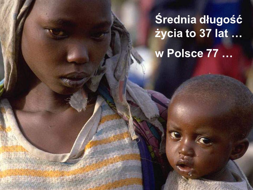 Średnia długość życia to 37 lat … w Polsce 77 …