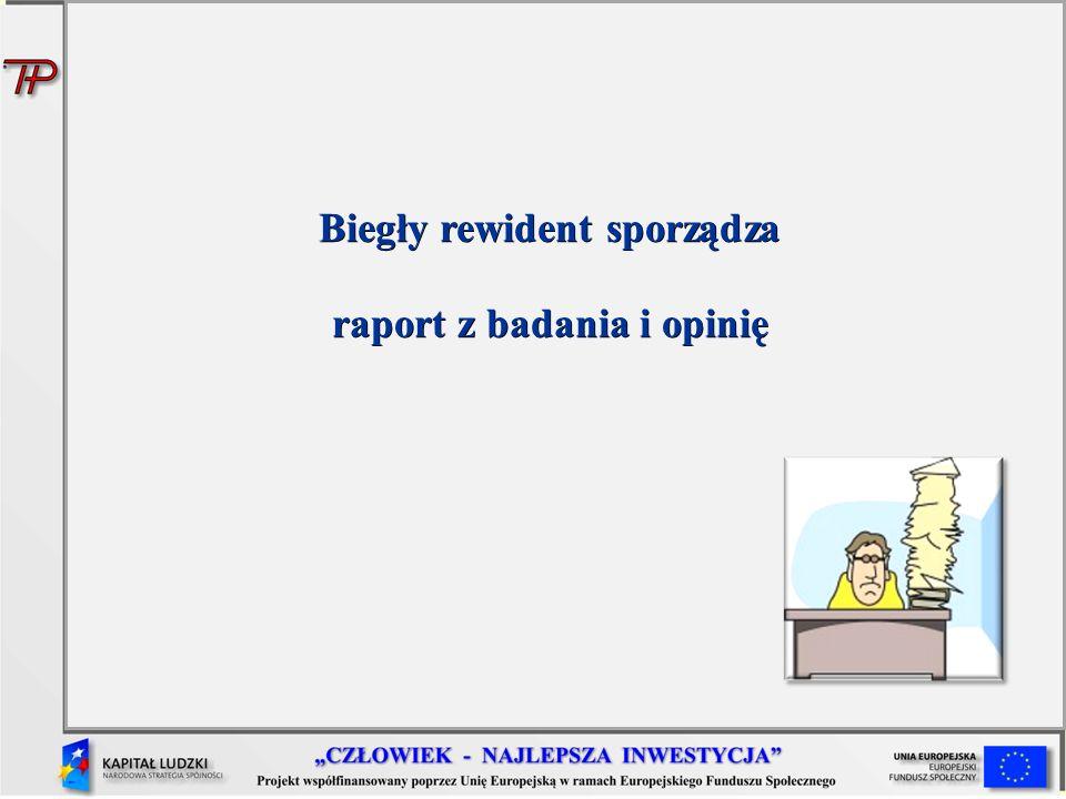 Biegły rewident sporządza raport z badania i opinię