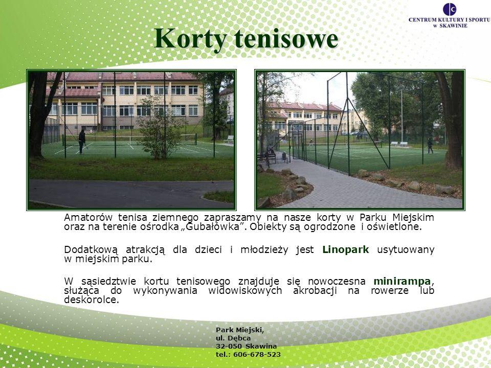 Korty tenisowe Amatorów tenisa ziemnego zapraszamy na nasze korty w Parku Miejskim oraz na terenie ośrodka Gubałówka. Obiekty są ogrodzone i oświetlon