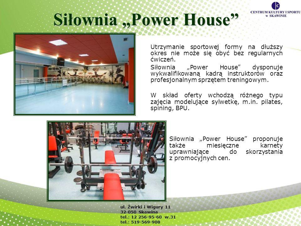 Siłownia Power House Utrzymanie sportowej formy na dłuższy okres nie może się obyć bez regularnych ćwiczeń. Siłownia Power House dysponuje wykwalifiko