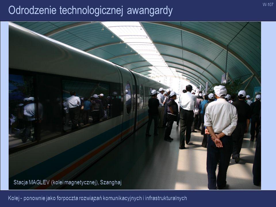 W-107 Odrodzenie technologicznej awangardy Kolej - ponownie jako forpoczta rozwiązań komunikacyjnych i infrastrukturalnych Stacja MAGLEV (kolei magnet