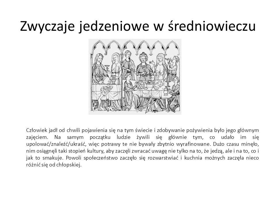 Co można było znaleźć w średniowiecznej spiżarni.