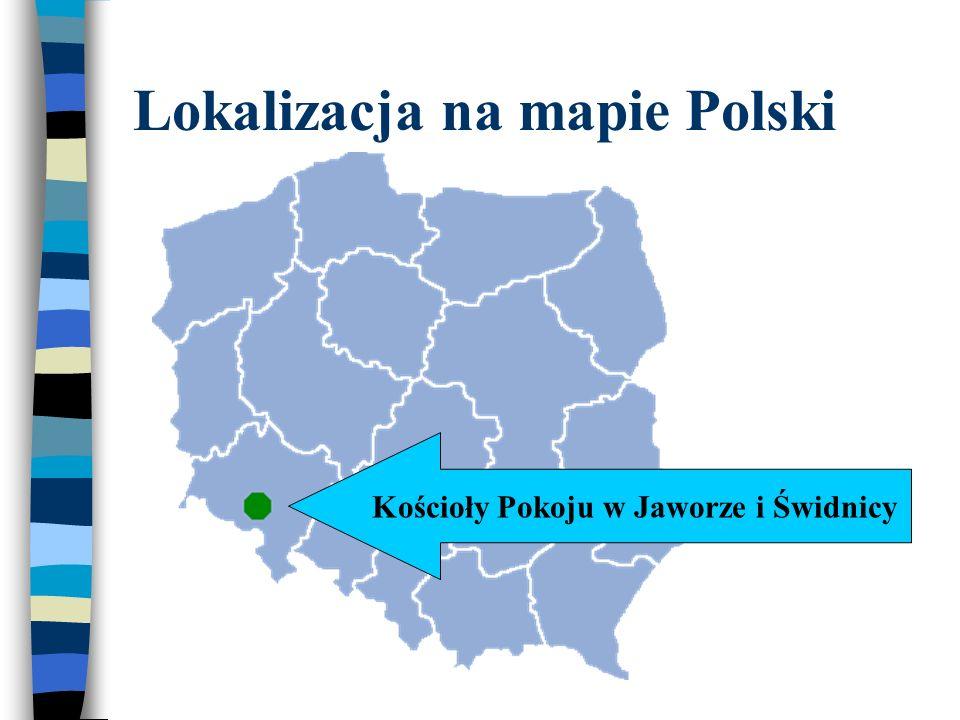 Lokalizacja na mapie Polski Kościoły Pokoju w Jaworze i Świdnicy