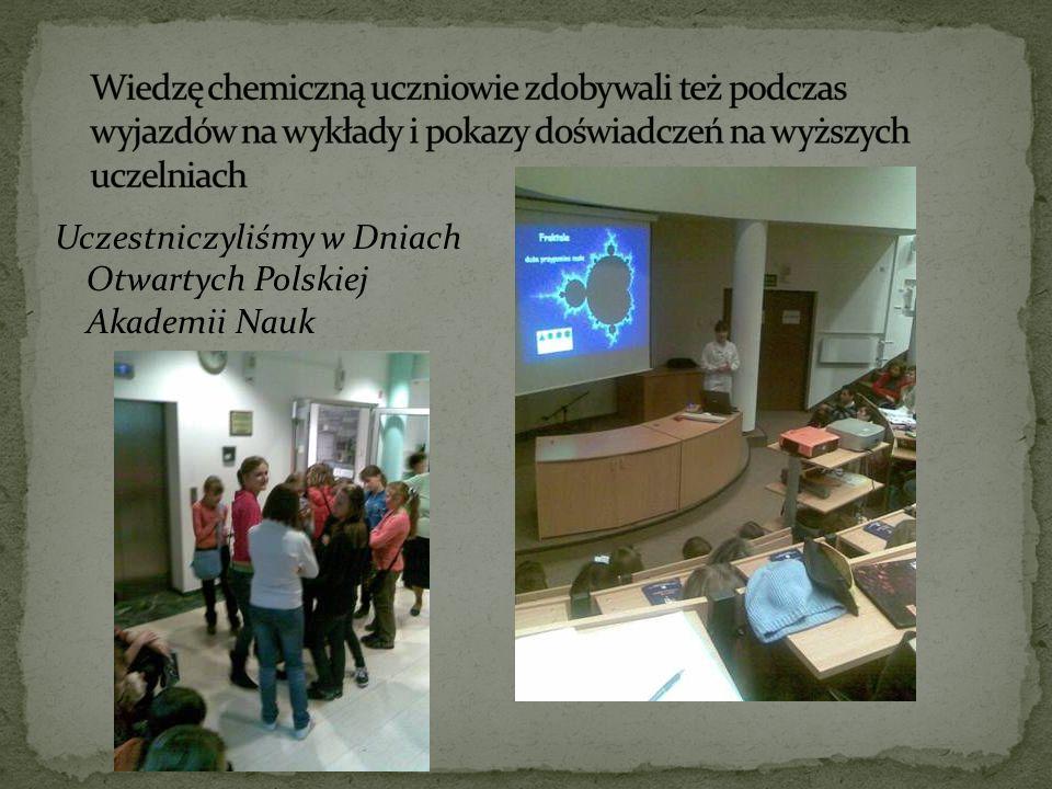 Uczestniczyliśmy w Dniach Otwartych Polskiej Akademii Nauk