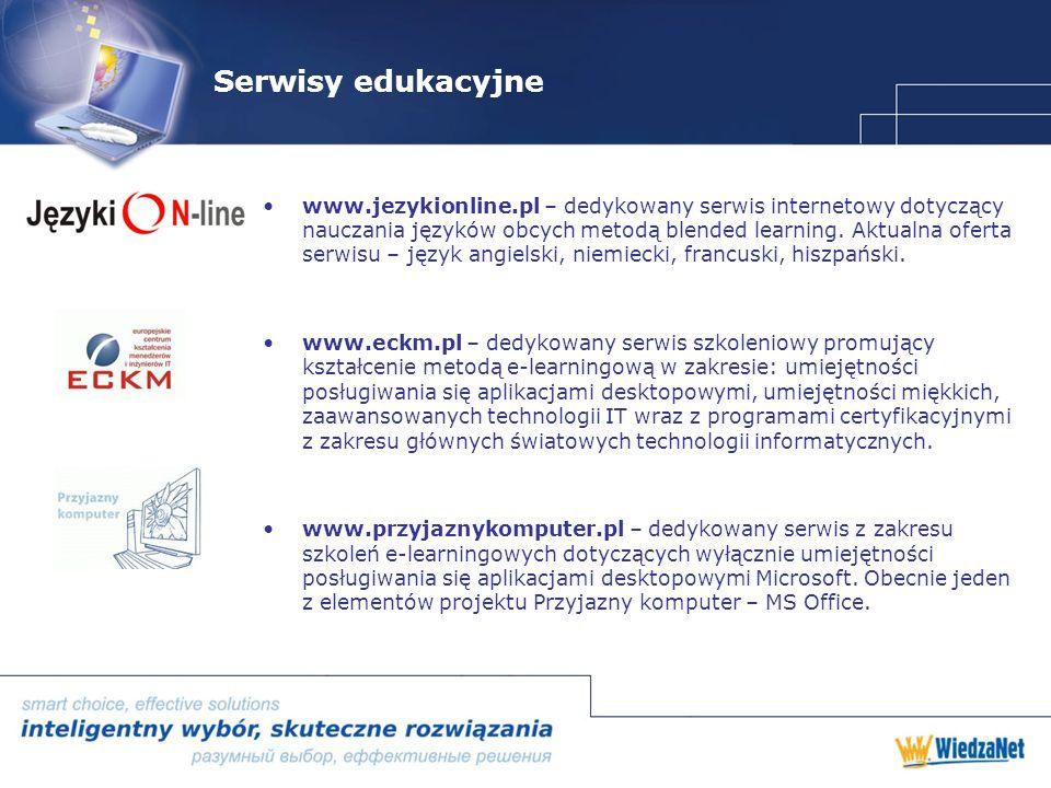 Serwisy edukacyjne www.jezykionline.pl – dedykowany serwis internetowy dotyczący nauczania języków obcych metodą blended learning.