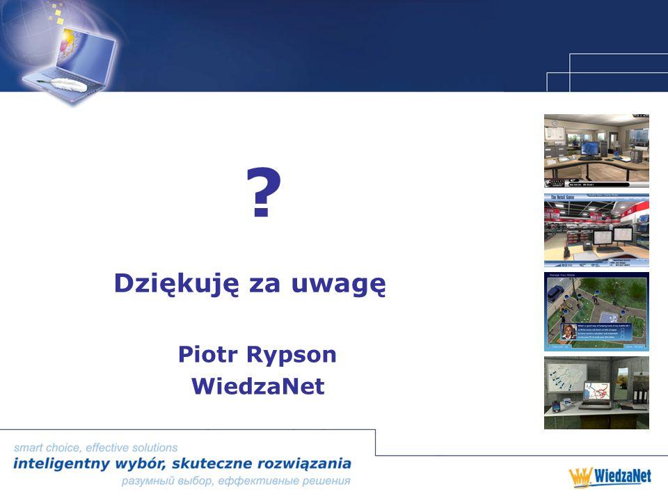 Dziękuję za uwagę Piotr Rypson WiedzaNet