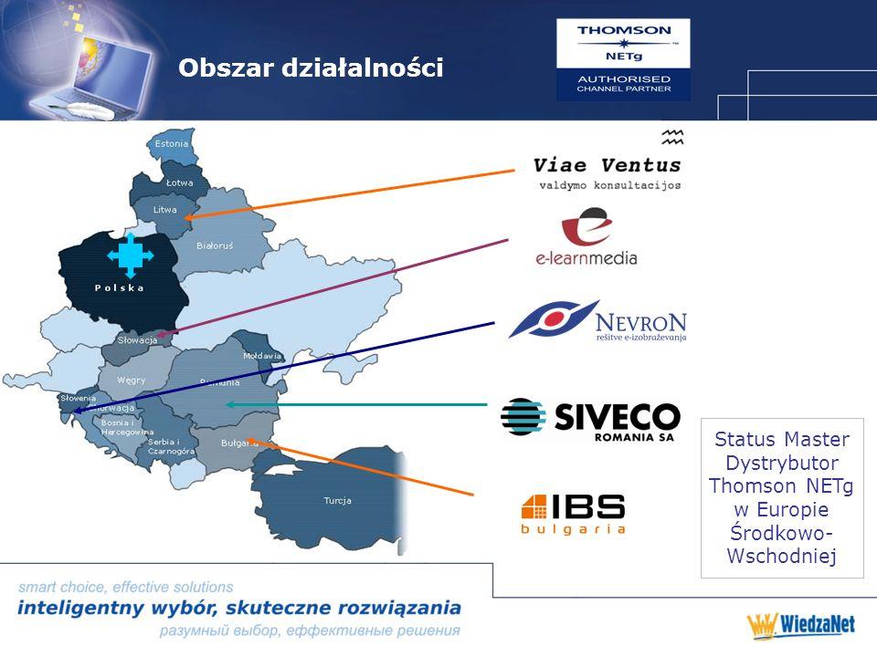 Obszar działalności Status Master Dystrybutor Thomson NETg w Europie Środkowo- Wschodniej