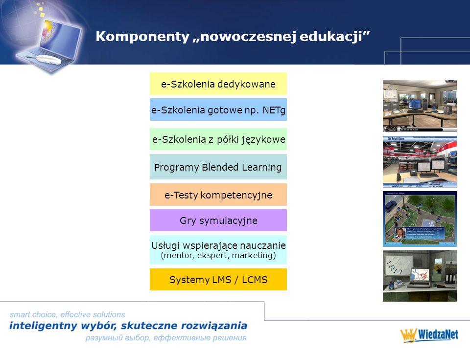 Komponenty nowoczesnej edukacji e-Szkolenia gotowe np.