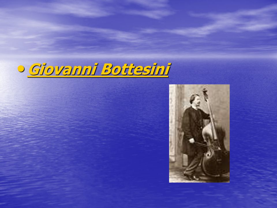 Giovanni Bottesini Giovanni Bottesini Giovanni Bottesini Giovanni Bottesini