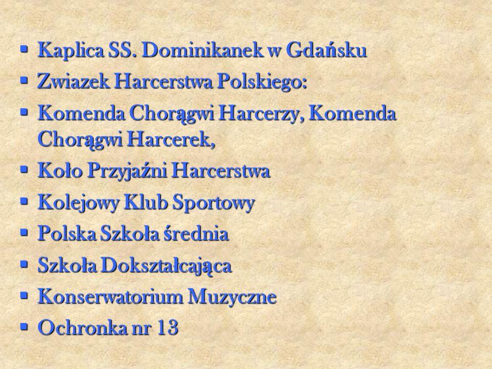 Kaplica SS. Dominikanek w Gda ń sku Kaplica SS.