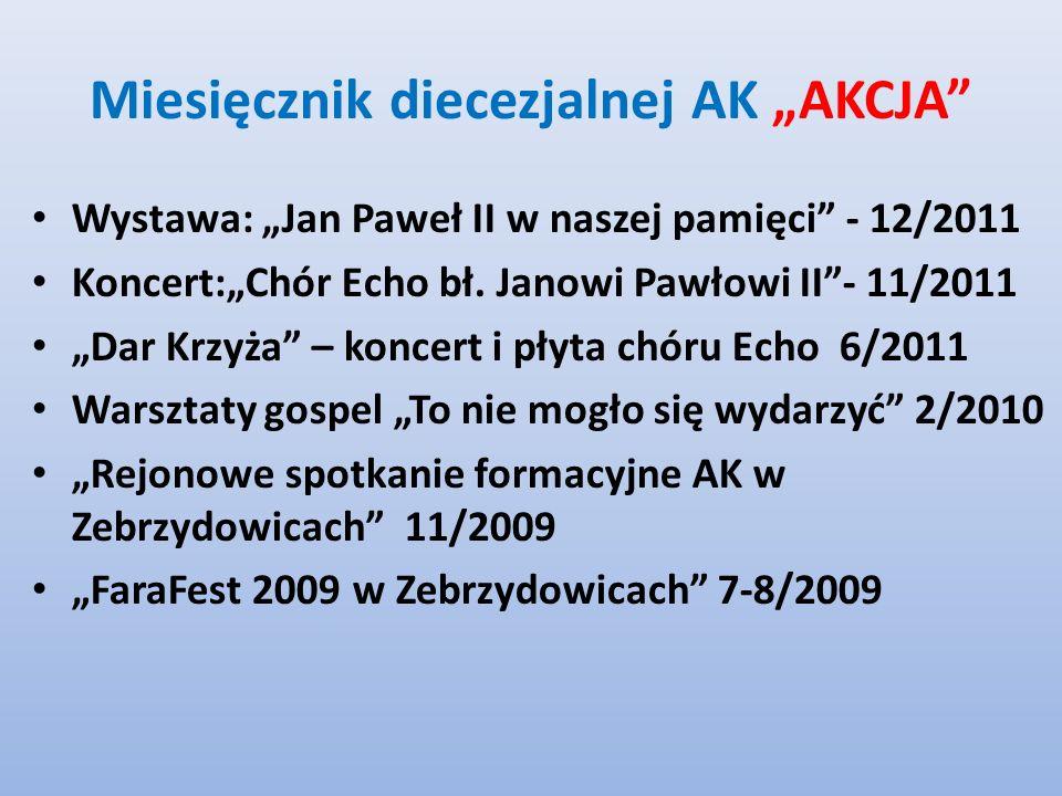 Miesięcznik diecezjalnej AK AKCJA Wystawa: Jan Paweł II w naszej pamięci - 12/2011 Koncert:Chór Echo bł.