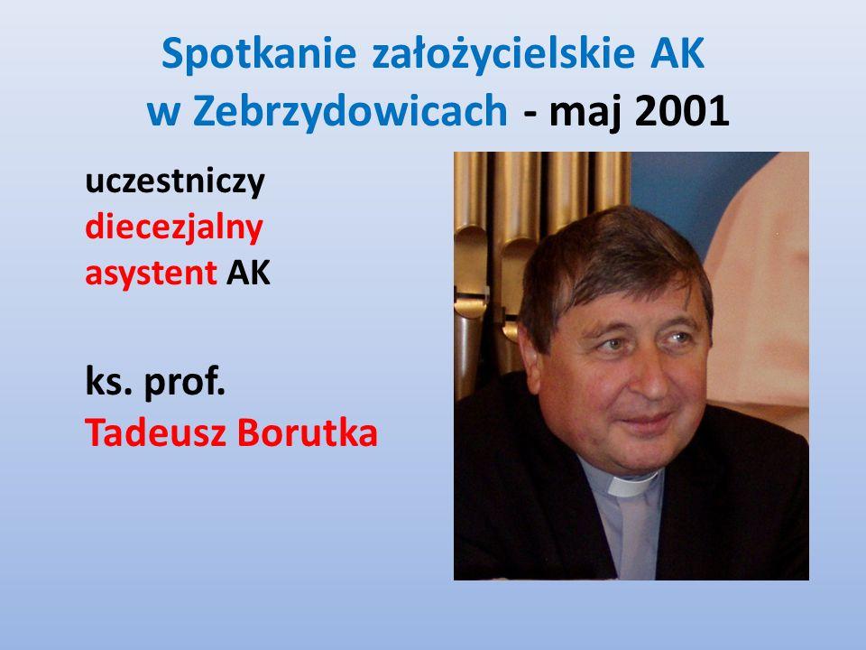Spotkanie założycielskie AK w Zebrzydowicach - maj 2001 uczestniczy diecezjalny asystent AK ks.