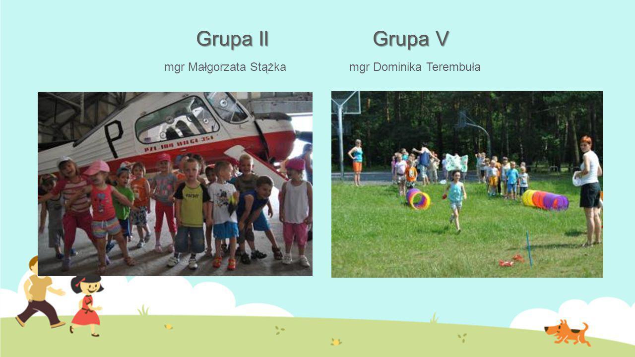 Grupa II Grupa V Grupa II Grupa V mgr Małgorzata Stążka mgr Dominika Terembuła