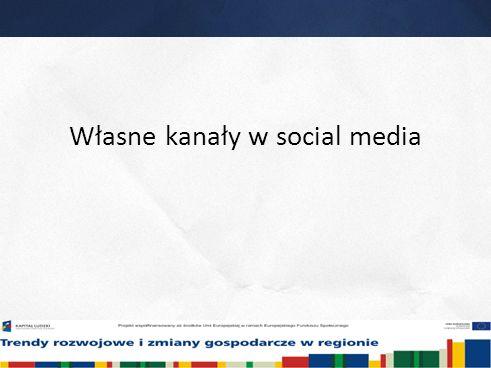 15 Własne kanały w social media