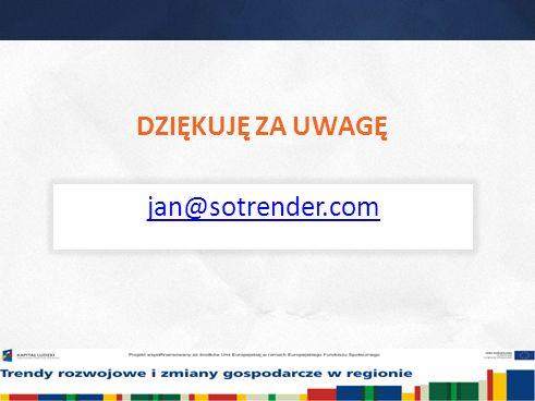 28 DZIĘKUJĘ ZA UWAGĘ jan@sotrender.com