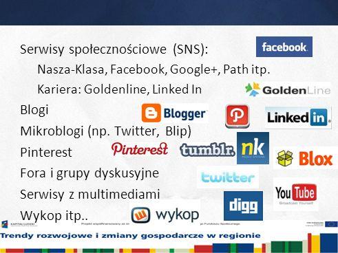 8 Serwisy społecznościowe (SNS): Nasza-Klasa, Facebook, Google+, Path itp.