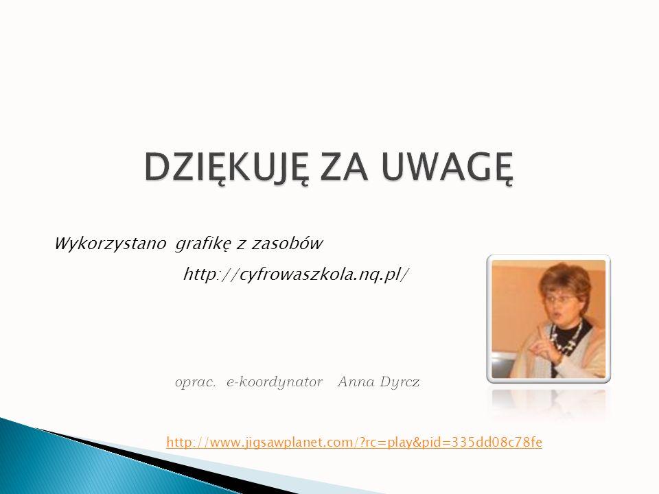 http://cyfrowaszkola.nq.pl/ Wykorzystano grafikę z zasobów http://www.jigsawplanet.com/?rc=play&pid=335dd08c78fe