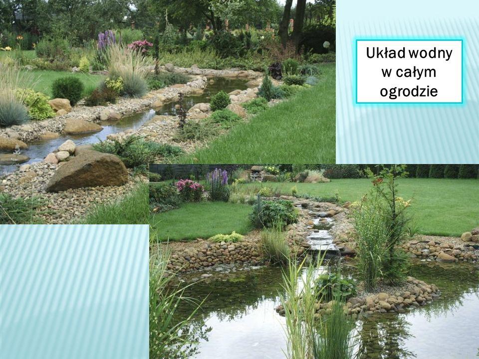 Układ wodny w całym ogrodzie