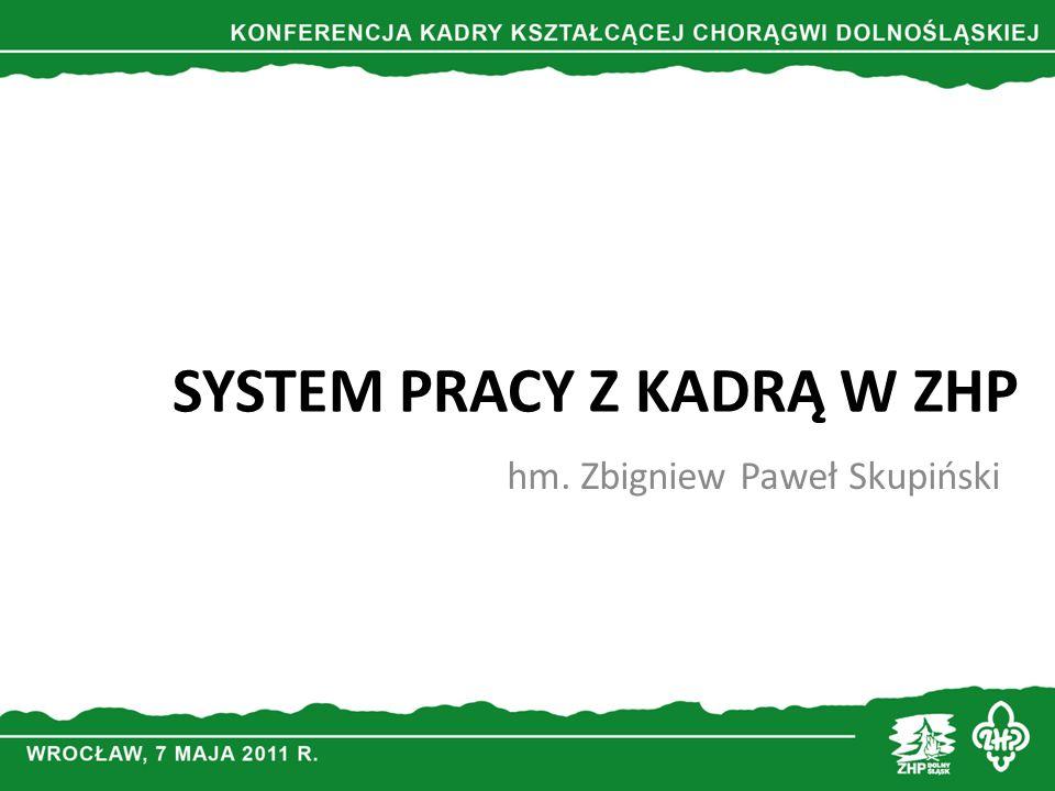 SYSTEM PRACY Z KADRĄ W ZHP hm. Zbigniew Paweł Skupiński