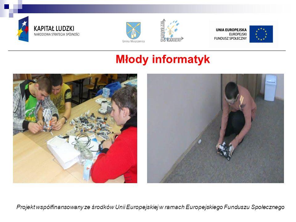 Młody informatyk Projekt współfinansowany ze środków Unii Europejskiej w ramach Europejskiego Funduszu Społecznego