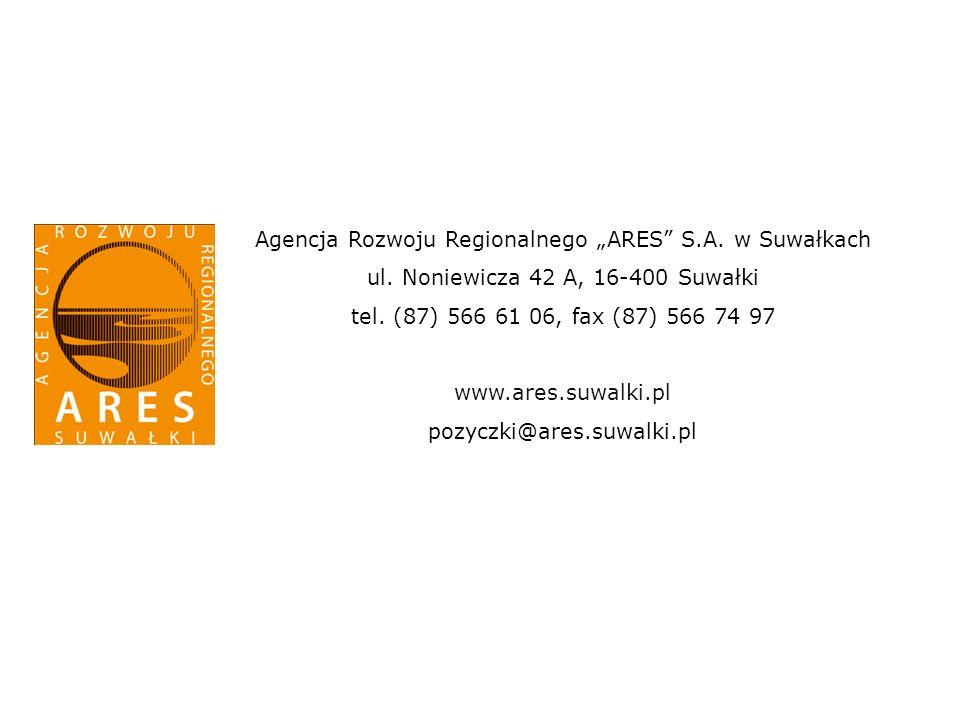 Agencja Rozwoju Regionalnego ARES S.A. w Suwałkach ul.