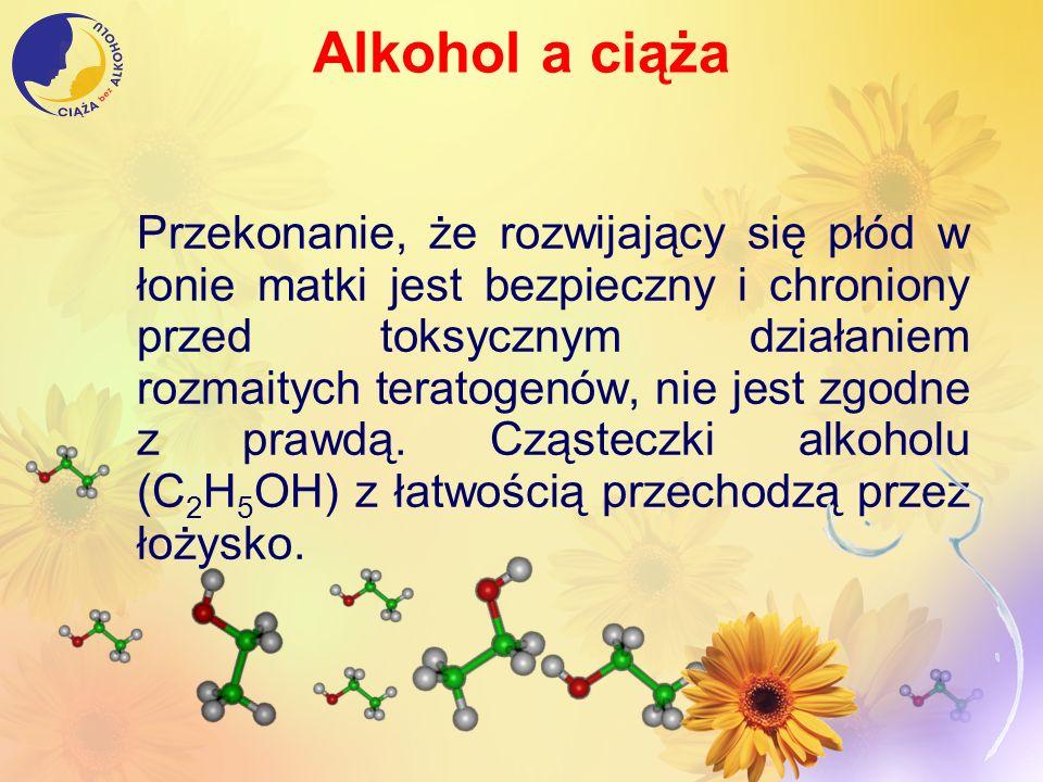 Alkohol a ciąża Przekonanie, że rozwijający się płód w łonie matki jest bezpieczny i chroniony przed toksycznym działaniem rozmaitych teratogenów, nie
