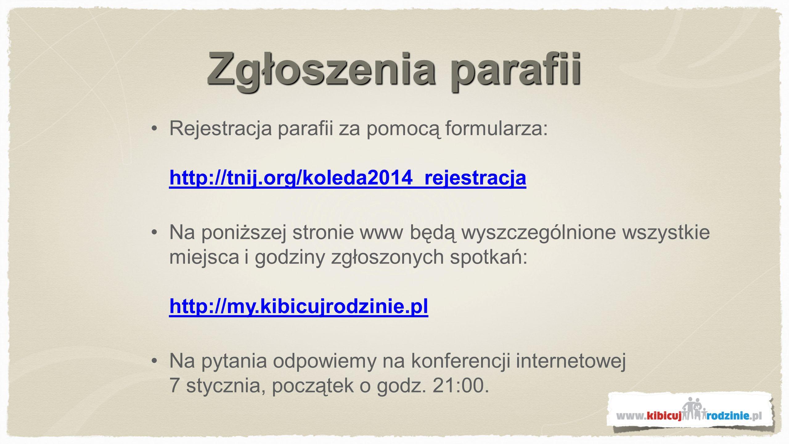 Konferencja internetowa 7 stycznia godz.21:00 rozpocznie się konferencja.