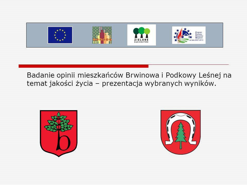 Badanie opinii mieszkańców Brwinowa i Podkowy Leśnej na temat jakości życia – prezentacja wybranych wyników.