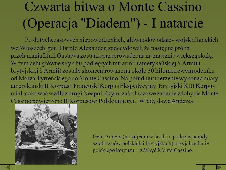 Czwarta bitwa o Monte Cassino (Operacja