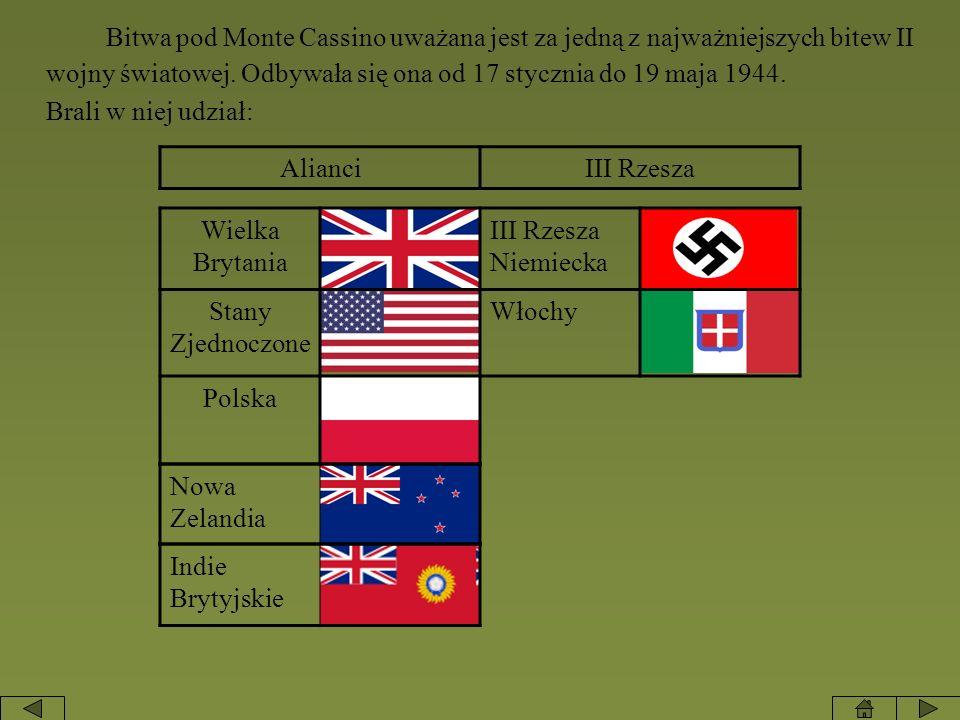 Bitwa pod Monte Cassino uważana jest za jedną z najważniejszych bitew II wojny światowej. Odbywała się ona od 17 stycznia do 19 maja 1944. Brali w nie