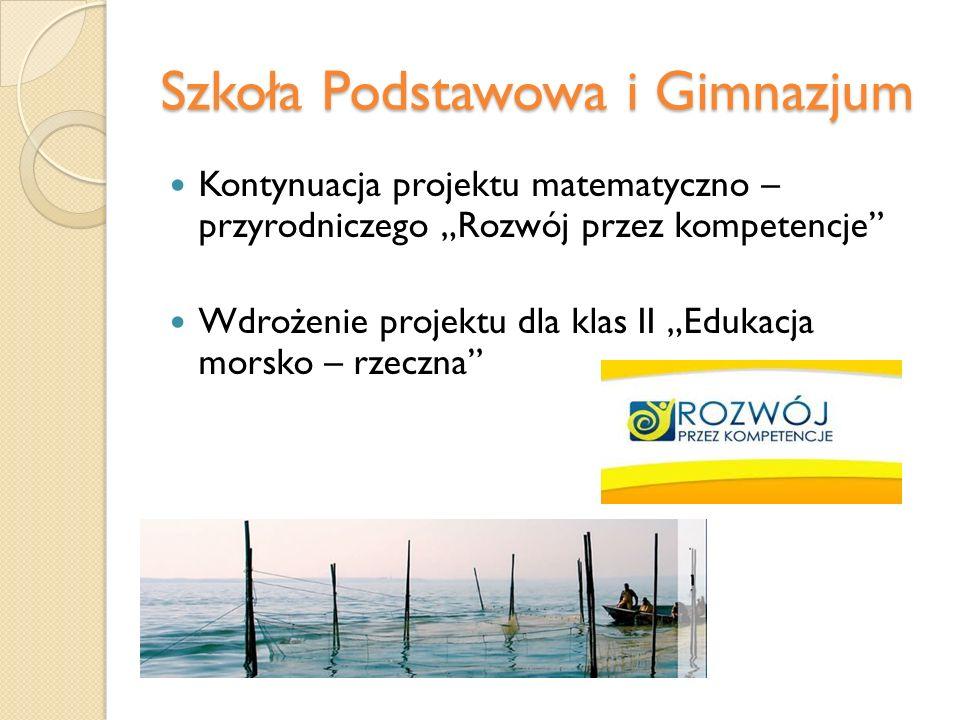 Szkoła Podstawowa i Gimnazjum Zajęcia dodatkowe dla klas III Język polski Język angielski Matematyka Geografia Chemia Fizyka