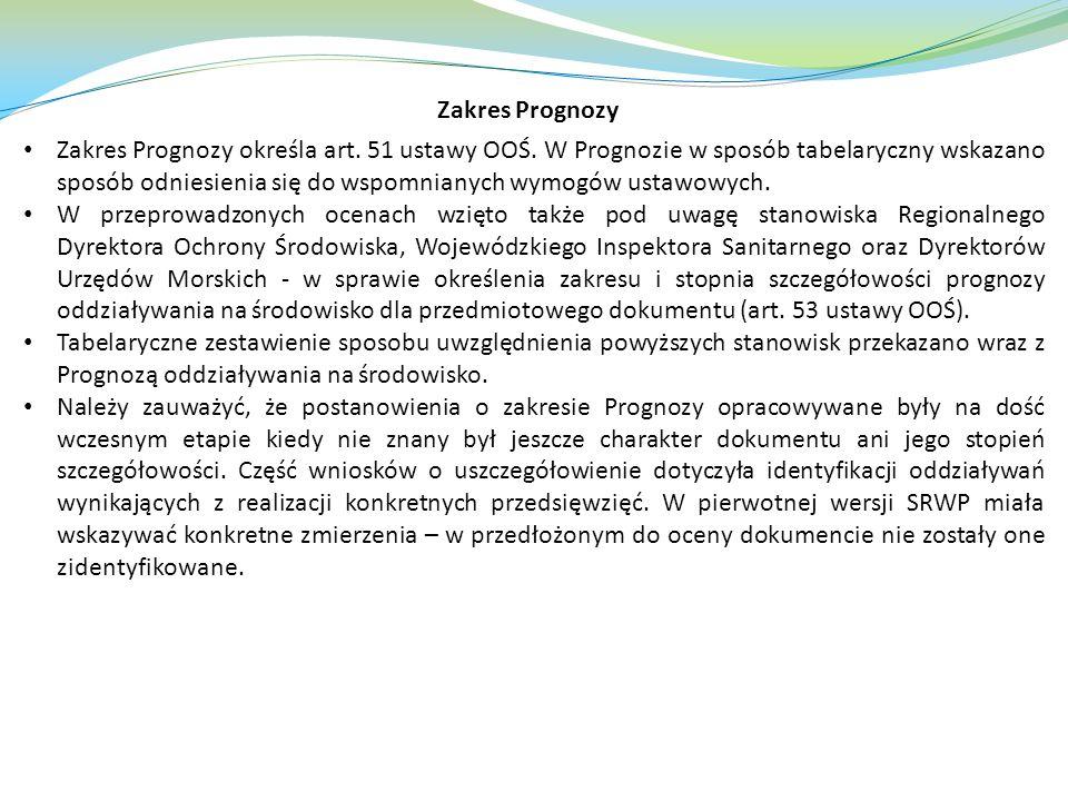 Zakres Prognozy określa art.51 ustawy OOŚ.