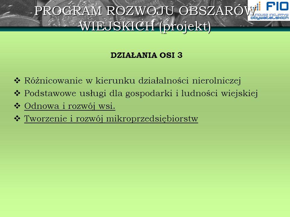 Program Sąsiedztwa Polska-Białoruś- Ukraina Interreg IIIA/Tacis CBC Priorytet 1: Zwiększenie konkurencyjności obszaru granicznego poprzez modernizację i rozbudowę infrastruktury transgranicznej Działanie 1.1: Modernizacja i rozbudowa istniejących systemów transportowych w celu poprawy dostępności regionu; Działanie 1.2: Rozwój wspólnego transgranicznego systemu ochrony środowiska naturalnego; Działanie 1.3: Rozwój infrastruktury okołobiznesowej i turystyki.